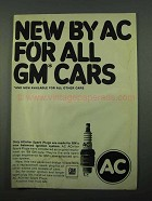 1969 AC ACniter Spark Plugs Ad - For All GM Cars