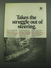 1969 GM Saginaw Power Steering Ad - Struggle Out