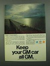1969 GM Parts Ad - Keep Your GM Car All GM