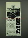 1969 Ricoh 126C Deluxe Automatic Camera Ad - So Easy