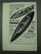 1969 Folbot Travel Craft Boat Ad