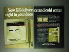 1969 General Electric Refrigerators Ad - Ice Cold Water