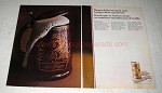 1969 Schaefer Beer Ad - Thomas Jefferson Spent