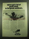 1976 U.S. Coast Guard Ad - Work in the Great Outdoors
