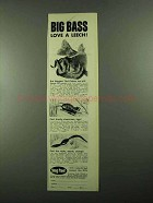 1976 Snag Proof Leech, Popper and Worm Lures Ad