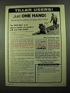 1976 Troy-Bilt Roto Tiller Ad - Just One Hand!