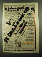 1976 Redfield Traditional Scope Ad - It Takes Guts