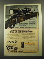 1976 Redfield Low Profile Widefield Scopes Advertisement