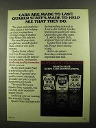 1976 Quaker State Motor Oil Ad - Made To Help
