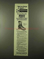 1976 Chippewa 5468 Minus Forty Boot Ad - Done it Again