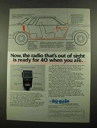 1976 Hy-Gain 9 Model 2679 CB Radio Ad - Ready for 40
