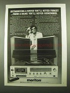 1976 Meriton HF-2105 Stereo Ad - You'll Never Forget