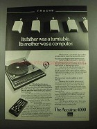 1976 Accutrac 4000 Turntable Ad - Mother Was Computer