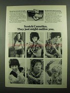 1976 3M Scotch Cassettes Ad - Might Outlive You