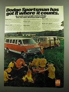 1976 Dodge Sportsman Van Ad - Got It Where it Counts