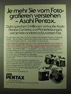 1976 Pentax Camera Ad - KM, KX and K2 - in German