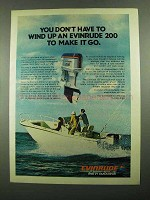 1976 Evinrude 200 Outboard Motor Ad - Don't Wind Up