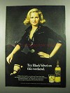 1976 Black Velvet Canadian Whisky Ad - Try This Weekend