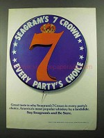 1976 Seagram's 7 Crown Whiskey Ad - Party's Choice