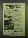 1976 Johnson Electric Outbaord Motor Ad - Cost More