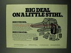 1976 Stihl 015L Chainsaw Ad - Big Deal on a Little