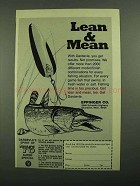 1976 Eppinger Daredvle Lure Ad - Lean & Mean