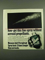 1976 Menen Anti-Perspirant Spray Deodorant Ad