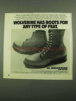 1976 Wolverine Boots Ad - Any Type of Feat