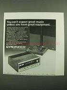 1976 Pioneer Stereo Components Ad - Great Music