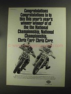 1993 Harley-Davidson Motorcycles Ad - Chris Carr