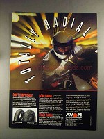 1992 Avon ST22 and ST23 Sport Touring Radial Tires Ad