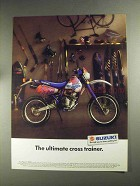 1992 Suzuki DualSport 350S Motorcycle Ad, Cross Trainer