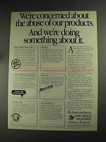 1992 Anheuser-Busch Beer Ad - Abuse of our Products