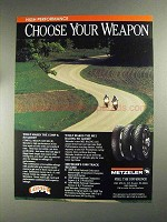 1991 Metzeler Comp K, ME33 and ME1 Tires Ad