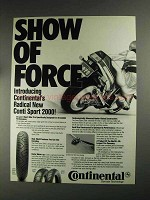 1991 Continental Conti Sport 2000 Tires Ad - Force