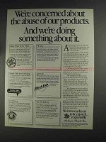 1991 Anheuser-Busch Beer Ad - Abuse of Our Products