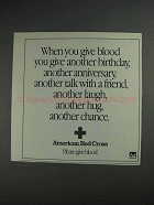 1991 American Red Cross Ad - Give Another Birthday