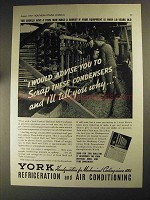 1937 York Vertical Shell and Tube Condenser Ad - Advise