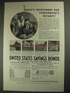 1937 United States Savings Bonds Ad - Security