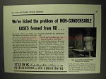 1937 York Refrigeration and Air Conditioning Ad - Gases