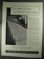 1936 United States Steel Ad - The Better The Sheet