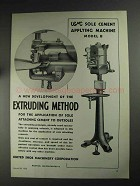 1936 USMC Ad - Sole Cement Applying Machine Model B