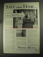 1936 International Nickel Ad - Save Your Hide