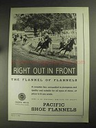1936 Pacific Mills Shoe Flannels Ad - Out in Front