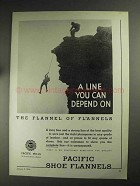 1936 Pacific Mills Shoe Flannels Ad - You Depend On