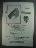 1927 Westvaco Counters Ad - The Importance Of