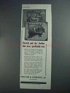 1927 Proctor & Schwartz Stretching-Drying System Ad