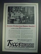 1927 Tycos Recording Thermometers Ad - Higher Quality