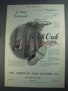 1927 The American Oak Leather Ad - Rock Oak