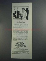 1927 Gargoyle Leather Oils and Greases Ad - Imitation